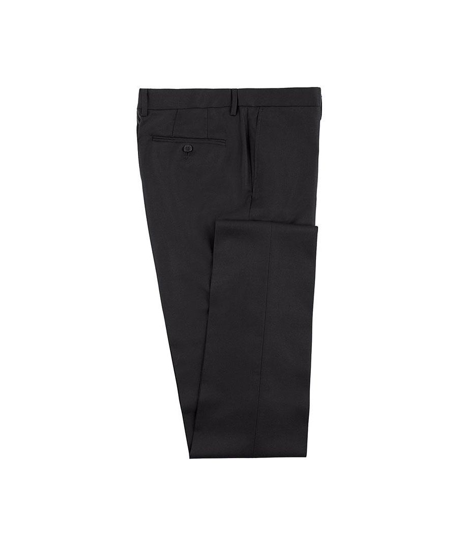 Image for Men's Hackett, Plain Wool Twill Trousers in Black