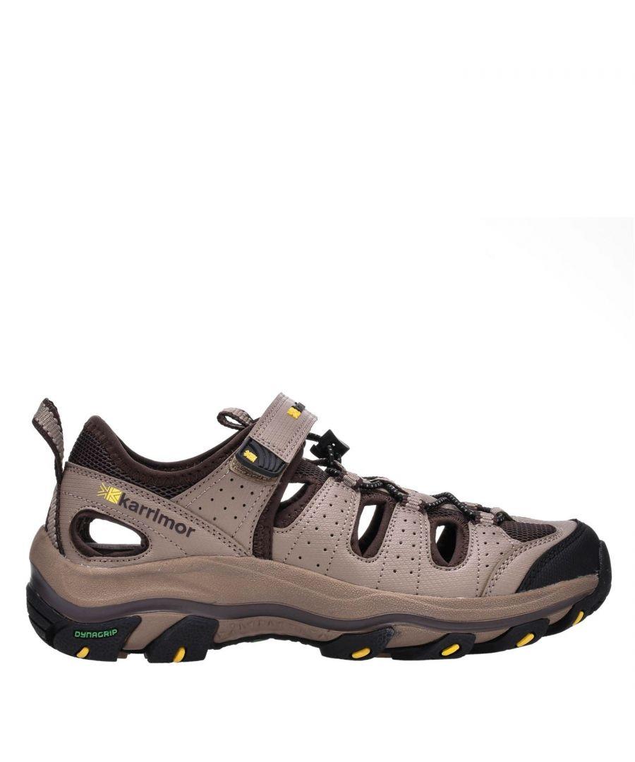 Image for Karrimor Mens K2 Walking Sandals Summer Shoes Walking Footwear Hook And Loop