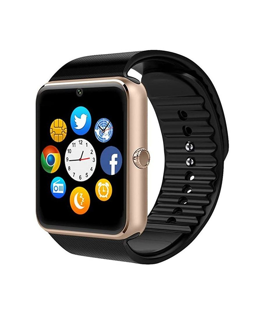 Image for Smartwatch LksTech® Multifunctional Smartwatch Bluetooth silicone bracelet Gold.