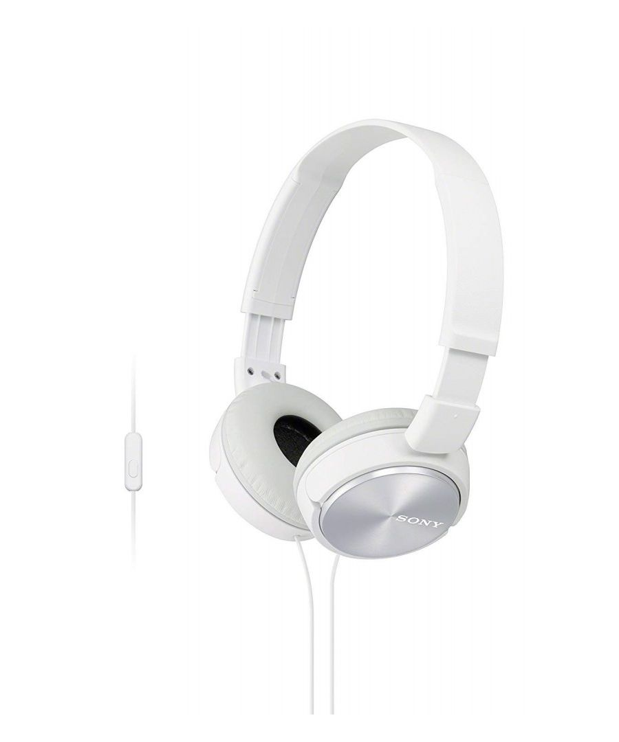 Image for Headphones Sony MDR-ZX310 with closed headband (with microphone, integrated remote control), White