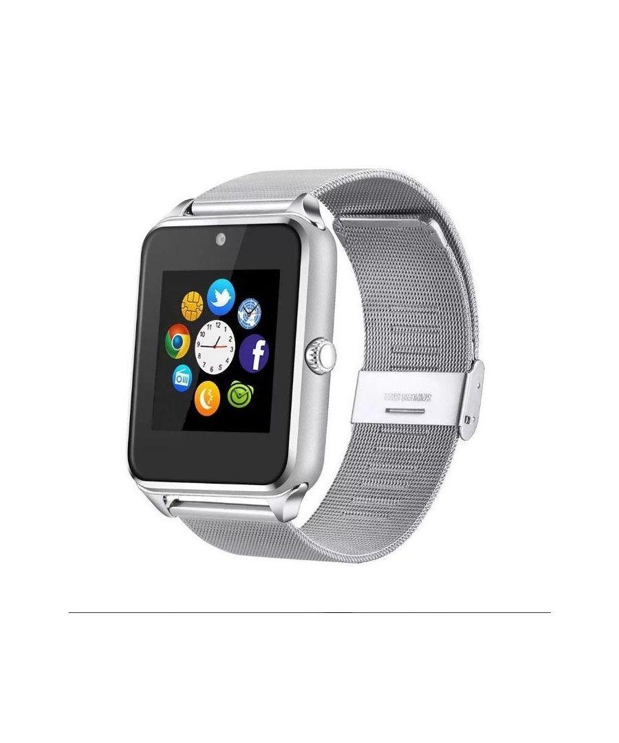 Image for LksTech® Smartwatch Multifunctional Bluetooth Smartwatch Silver metal bracelet.