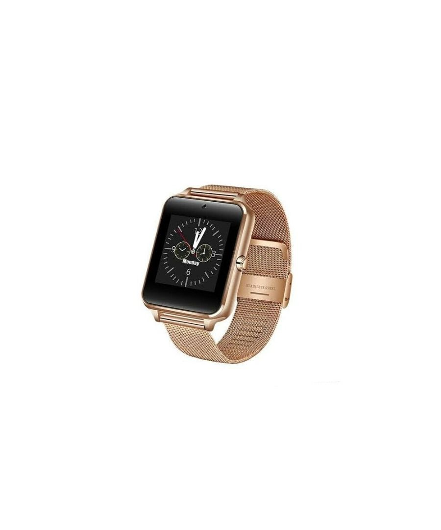 Image for LksTech® Smartwatch Multifunctional Bluetooth Smartwatch Gold metal bracelet.