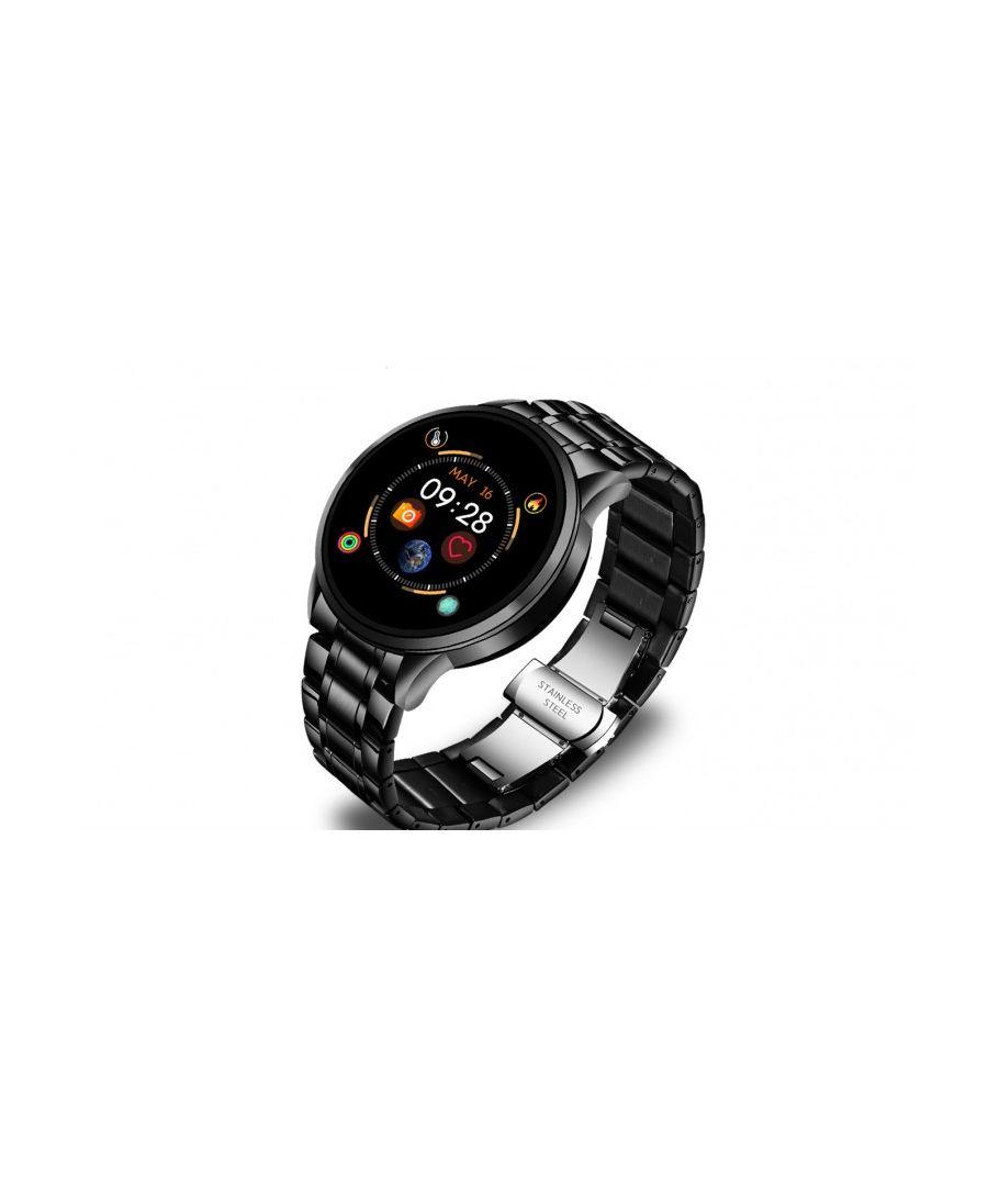 Image for Smartwatch LksTech® Multifunctional Smartatch Bluetooth metallic bracelet Black.