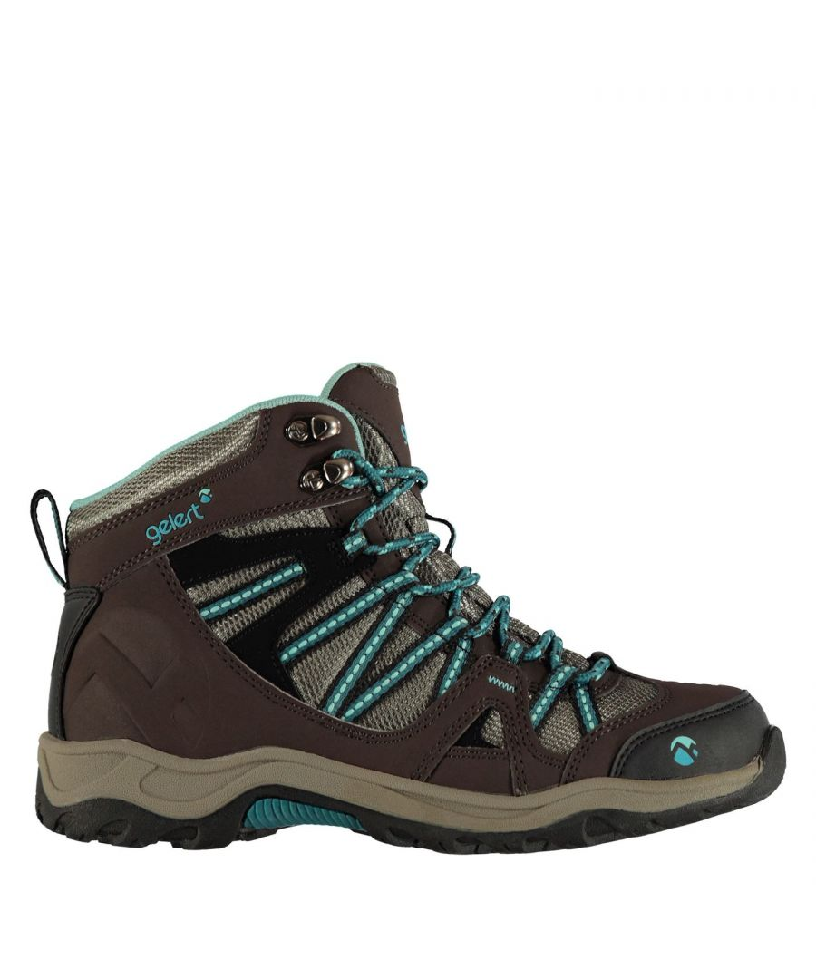 Image for Gelert Womens Ottawa Mid Walking Boots Lace Up Padded Ankle Collar Shoes