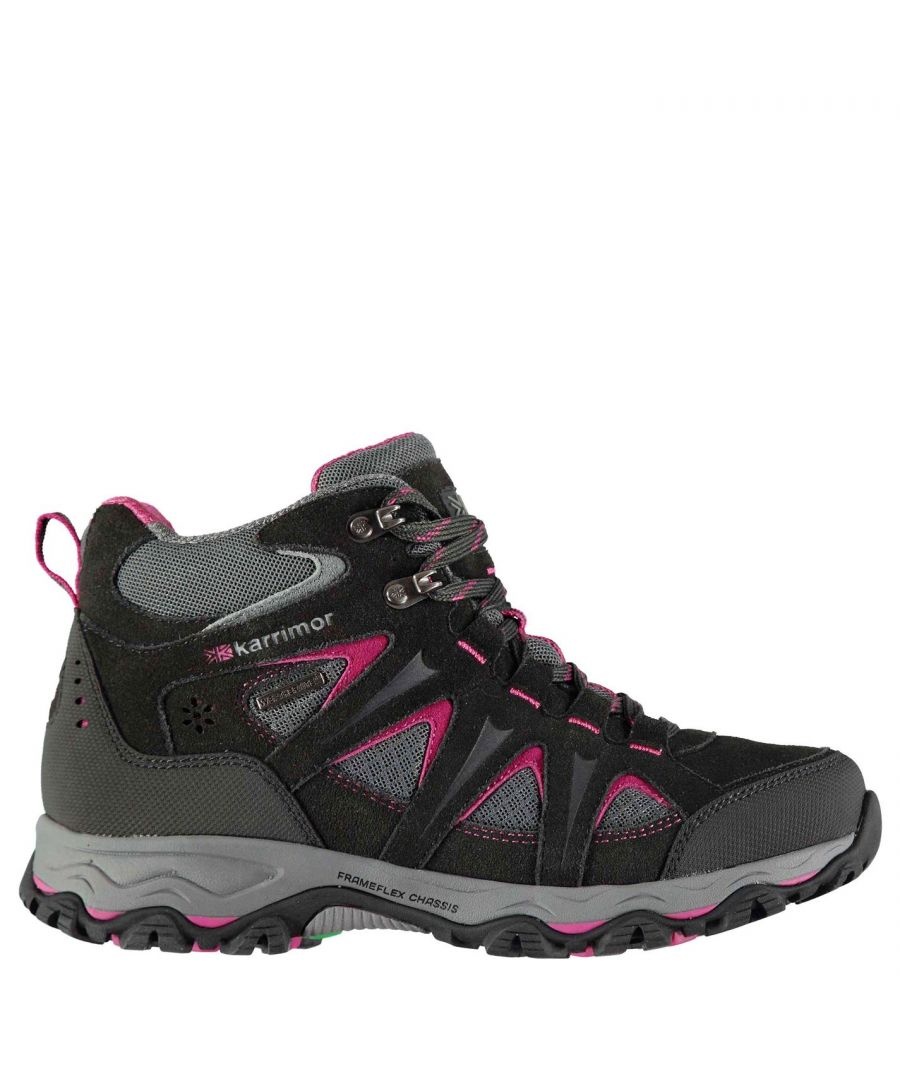Image for Karrimor Womens Mountain Mid Top Ladies Walking Boots Breathable Waterproof