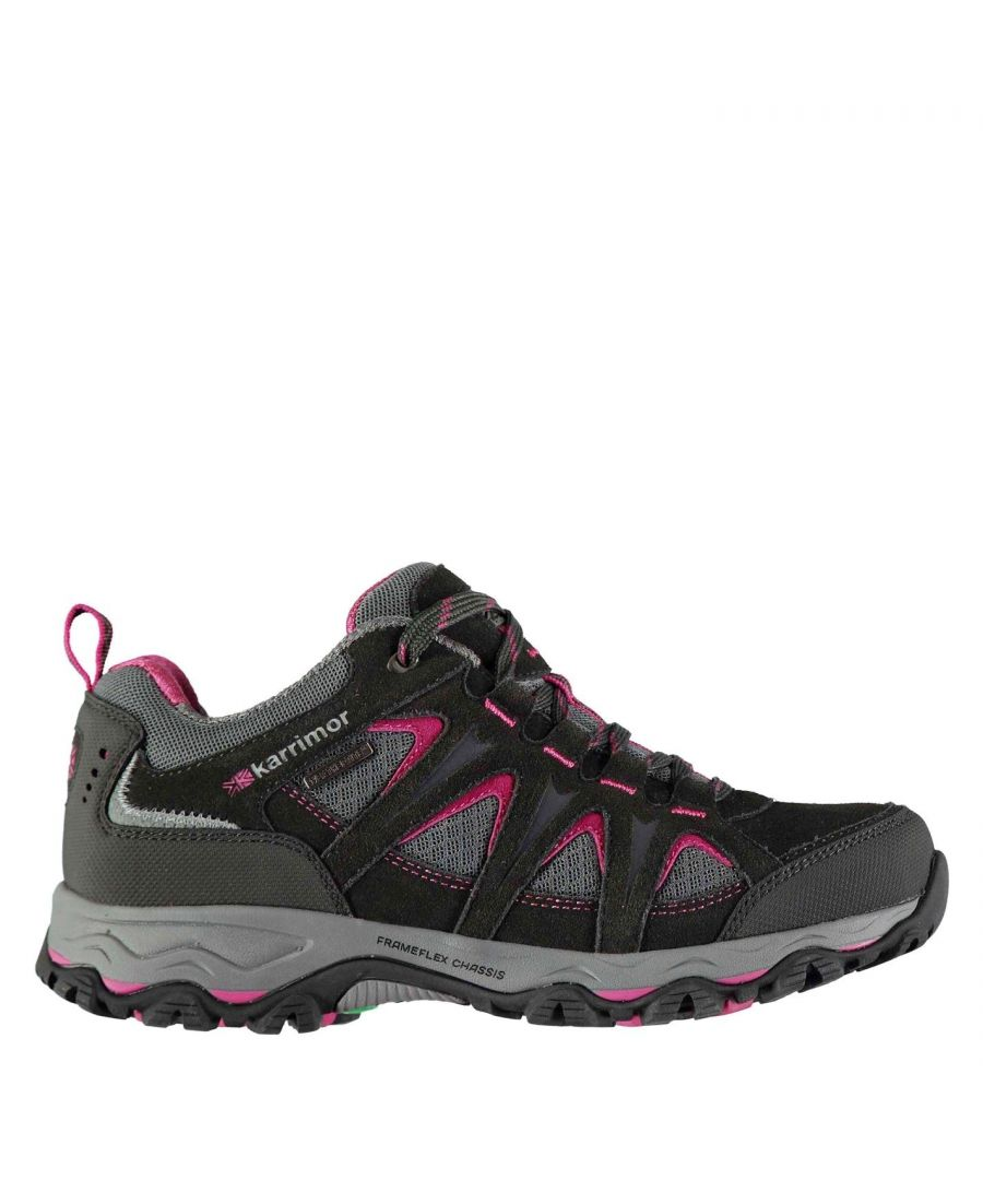 Image for Karrimor Womens Mount Low Ladies Walking Shoes Waterproof Lace Up Hiking