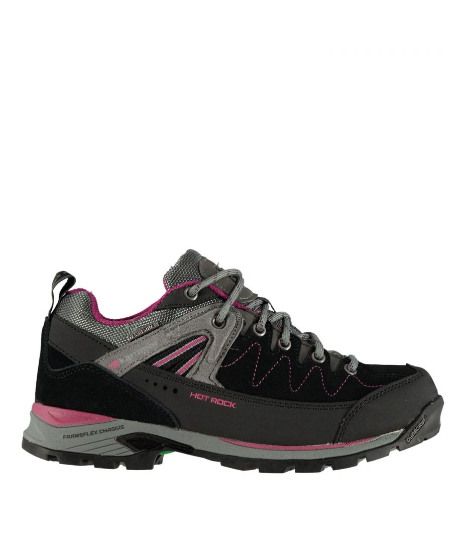 Image for Karrimor Womens Hot Rock Low Walking Shoes Waterproof Lace Up Breathable Padded