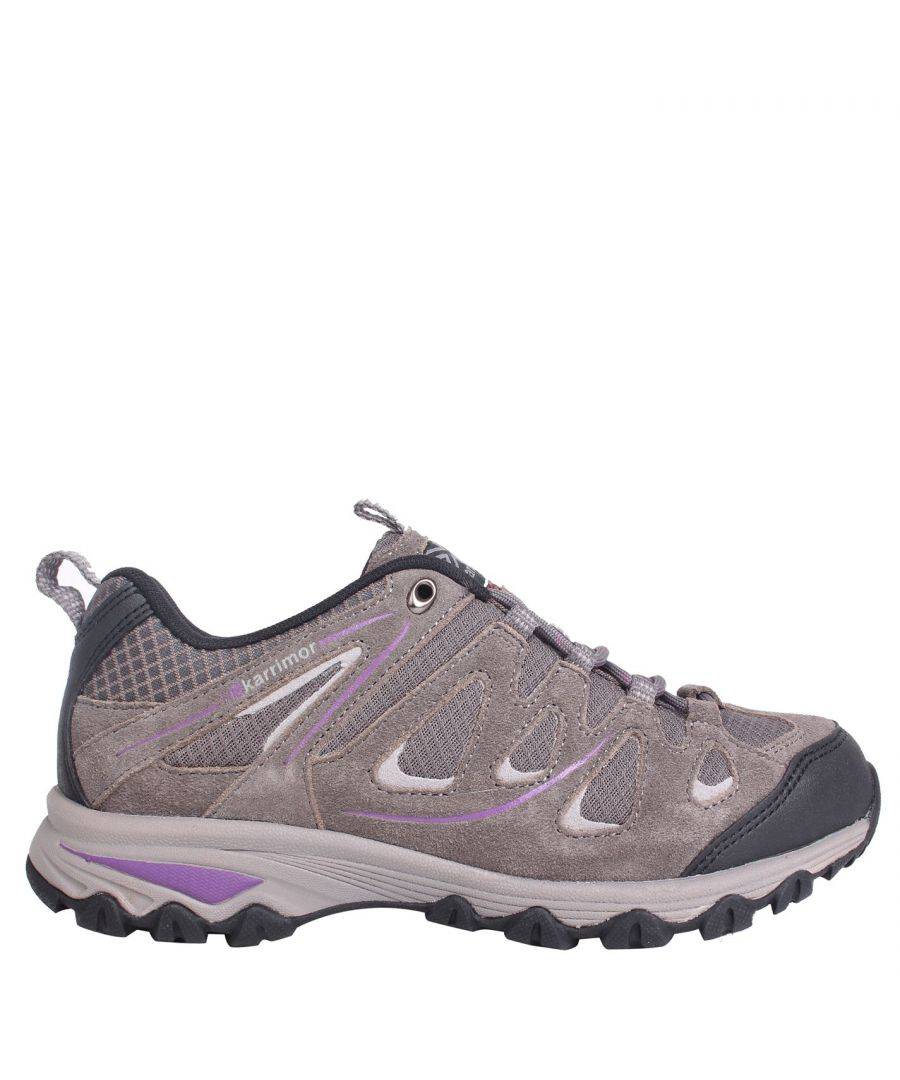 Image for Karrimor Womens Summit Walking Shoes Non Waterproof Lace Up Breathable Suede