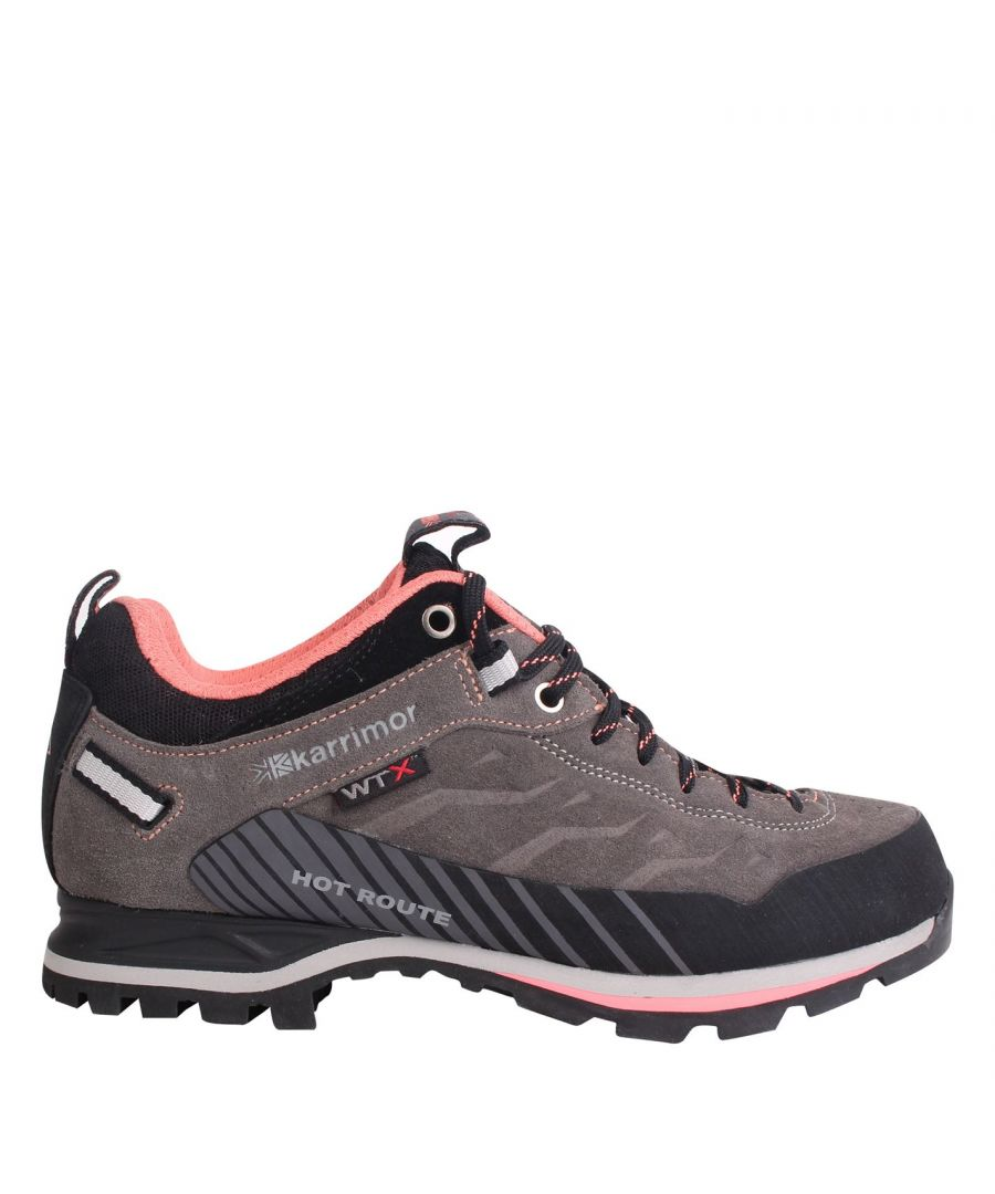 Image for Karrimor Womens Hot Route Waterproof Walking Shoes Breathable Cushioned Ankle