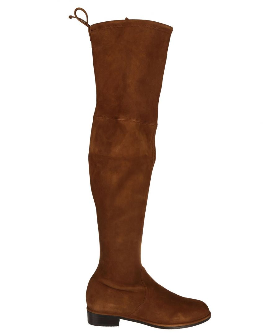 Image for STUART WEITZMAN WOMEN'S LOWLANDCOFFEE BROWN LEATHER BOOTS