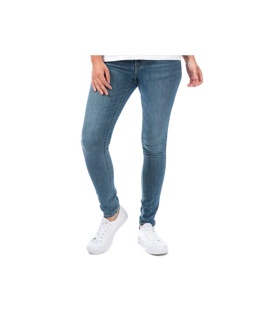 Image for Women's Levi's 711 Skinny Lapis Indigo Rays Jeans In Denim