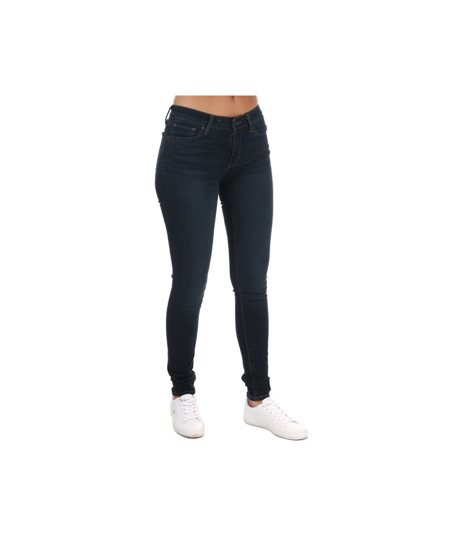 Image for Women's Levis 711 Skinny Jeans Dark Blue 24Sin Dark Blue