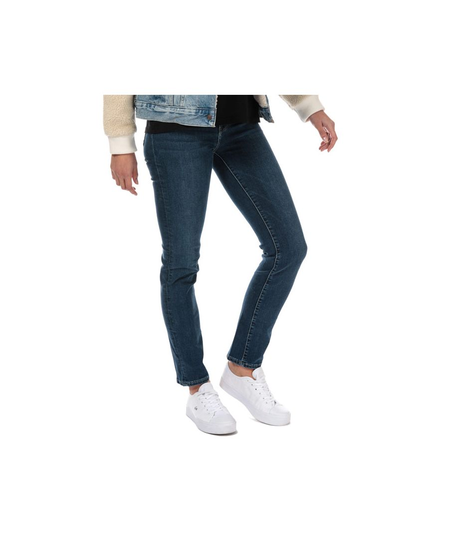 Image for Women's Levis 724 High Rise Straight Level Out Jeans in Dark Blue