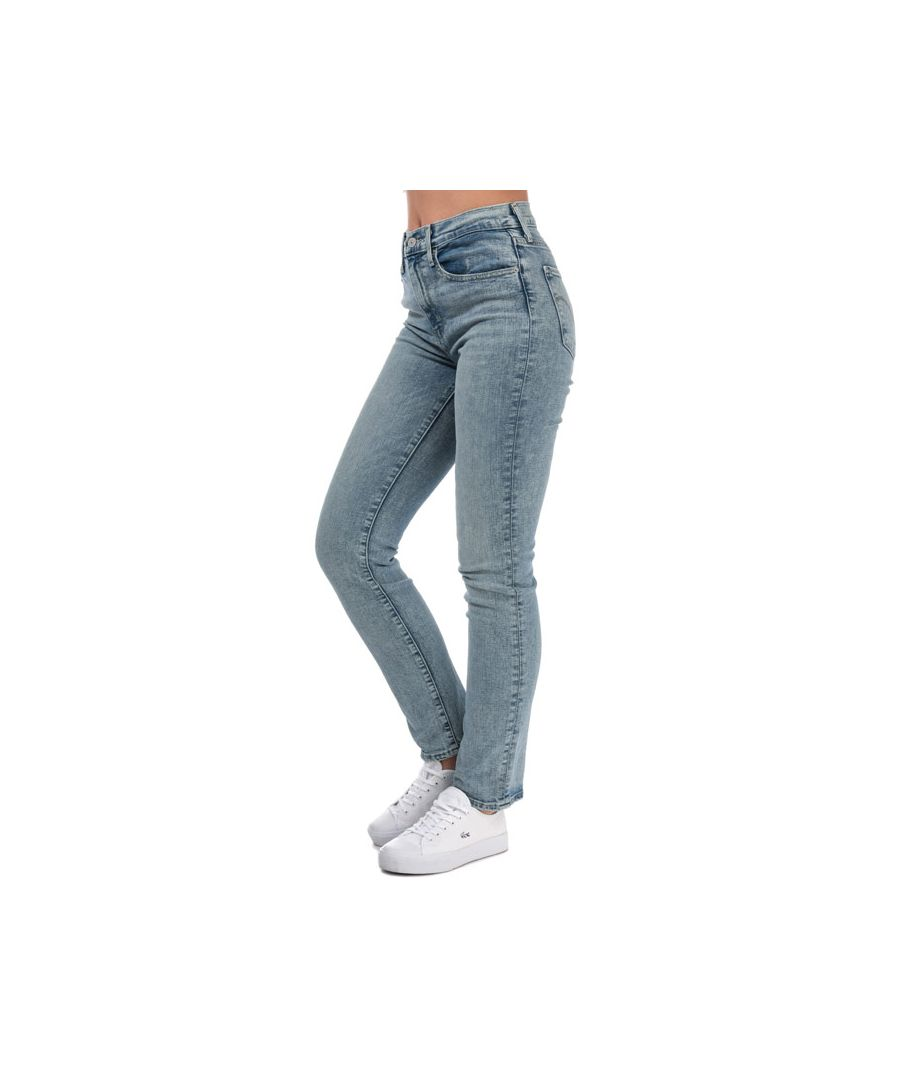 Image for Women's Levis 724 High Rise Straight Jeans in Light Blue