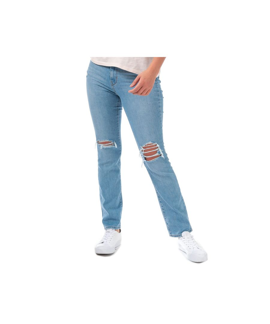 Image for Women's Levis 724 High Rise Straight Sapphire Lies Jeans in Denim