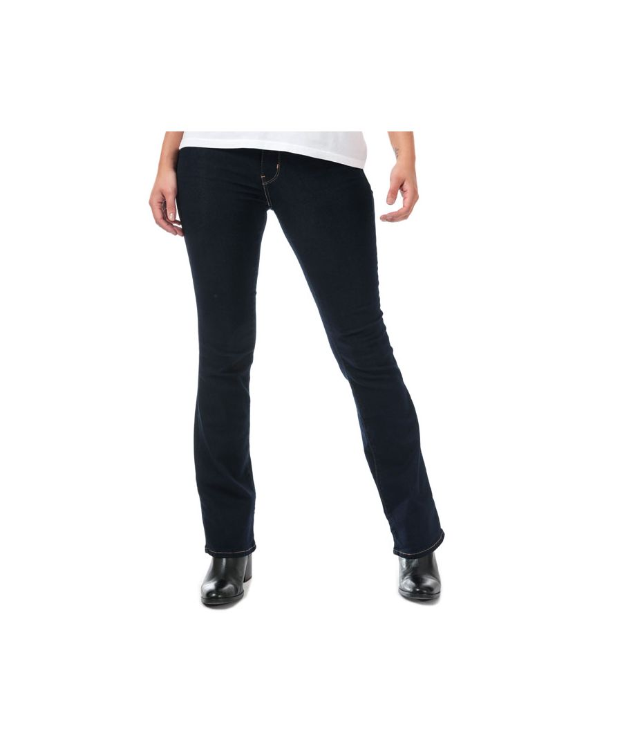 Image for Women's Levis 715 Bootcut Cast Shadows Jeans in Dark Blue