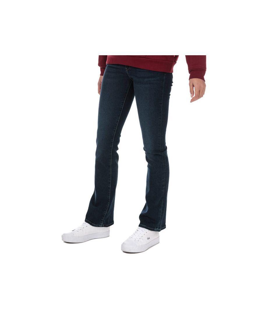 Image for Women's Levis 715 Bootcut Role Model Jeans in Dark Blue