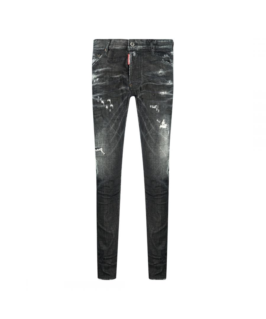 Image for Dsquared2 Cool Guy Jean 1964 Destroyed Black Jeans