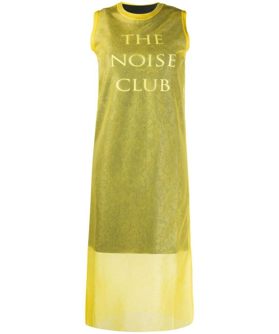 Image for MCQ BY ALEXANDER MCQUEEN WOMEN'S 579205ROK017136 YELLOW POLYAMIDE DRESS