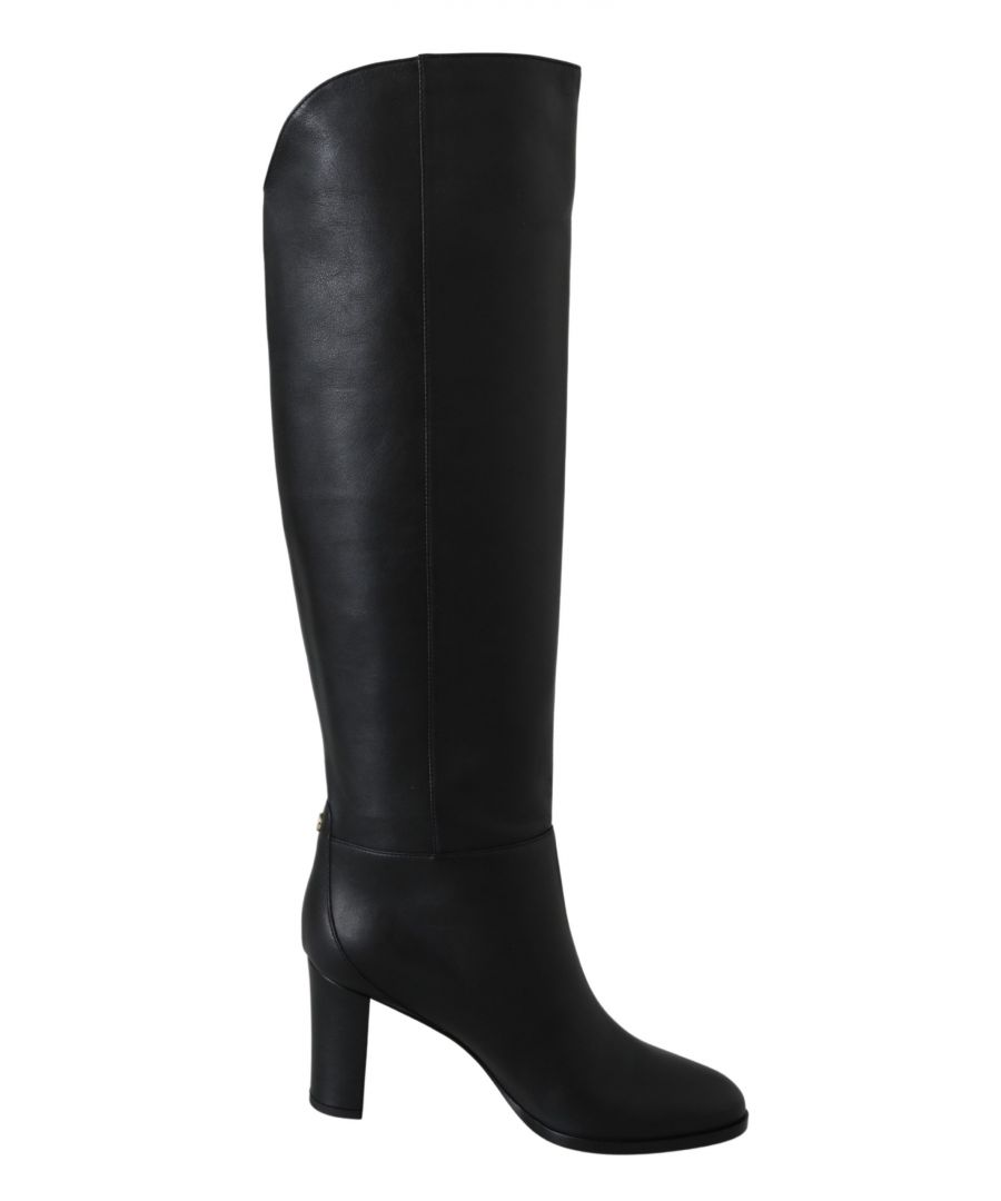 Image for Jimmy Choo Madalie 80 Black Leather Boots