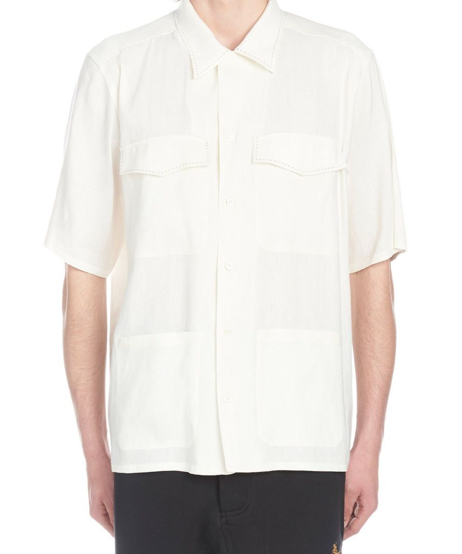 Image for VIVIENNE WESTWOOD MEN'S S25DL0440S49698102 WHITE COTTON SHIRT