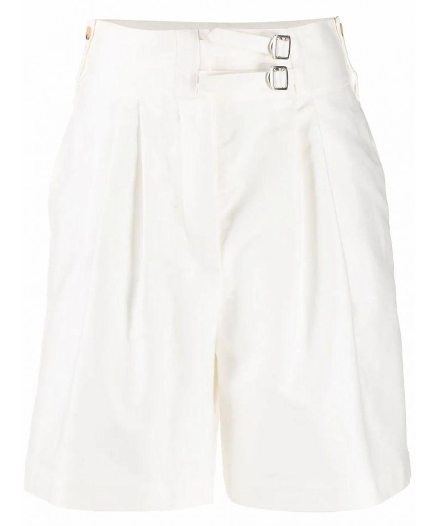 Image for LANVIN WOMEN'S RWTR508U4344P2001 WHITE COTTON SHORTS