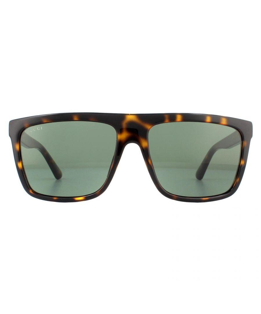 Image for Gucci Sunglasses GG0748S 003 Havana Green