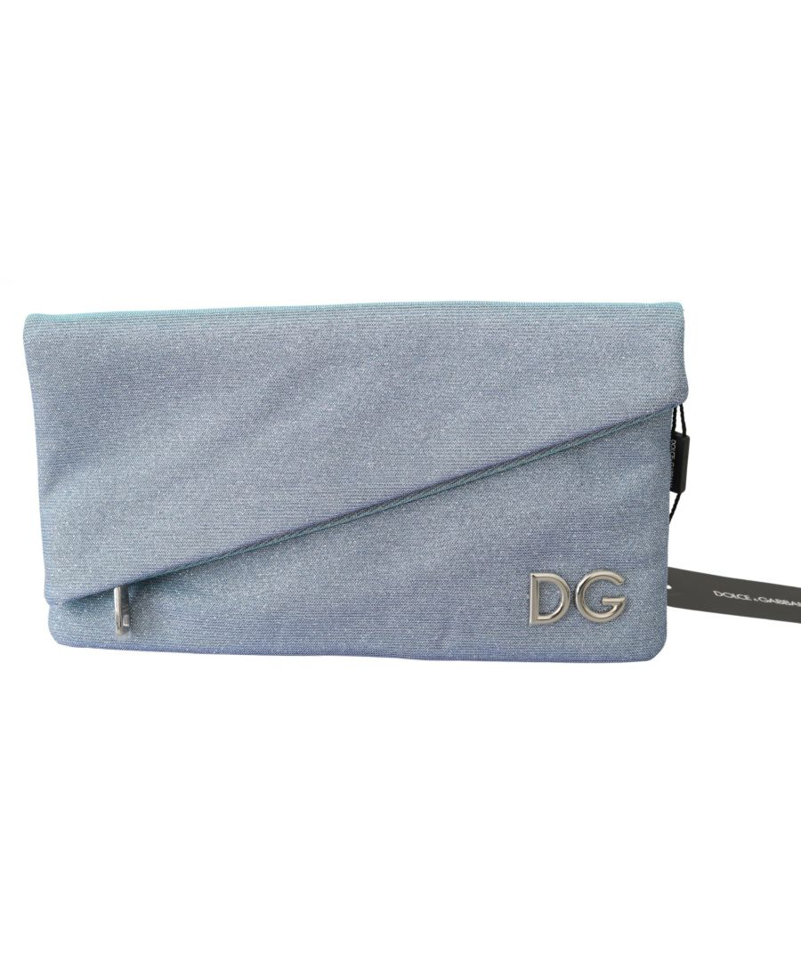 Image for Dolce & Gabbana Blue Hand Purse Borse Dg Logo Canvas Cleo Bag