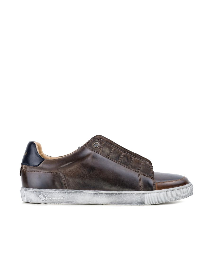 Image for Goodwin Smith Mens Levi Brown Plimsoll