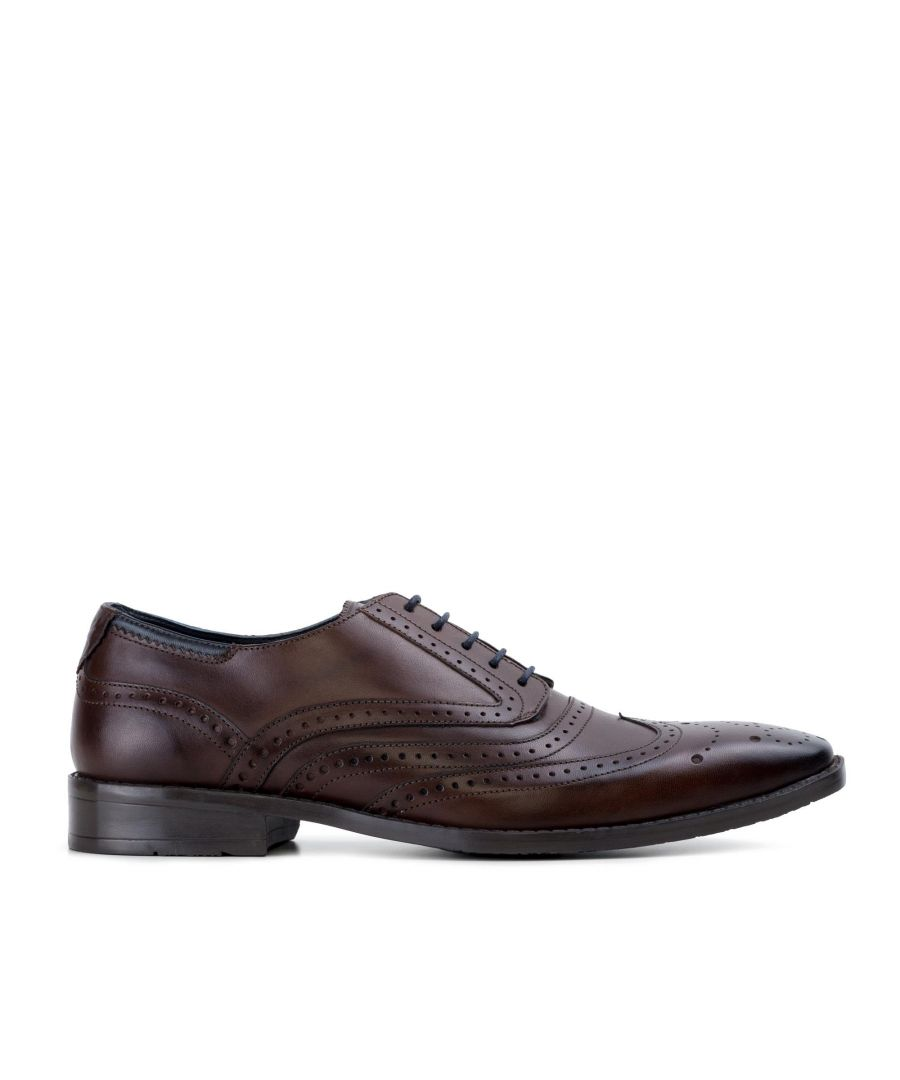 Image for Goodwin Smith Lincoln Brown Classic Leather Derby Brogue Shoe