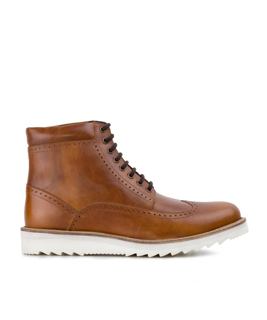 Image for Redfoot Mens Redfoot Gareth Tan Wedge Boot