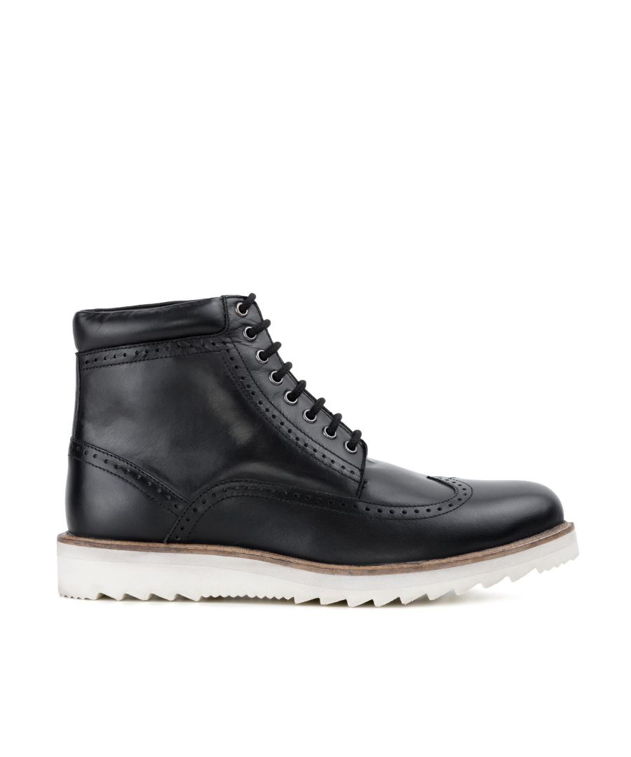 Image for Redfoot Mens Redfoot Gareth Black Wedge Boot