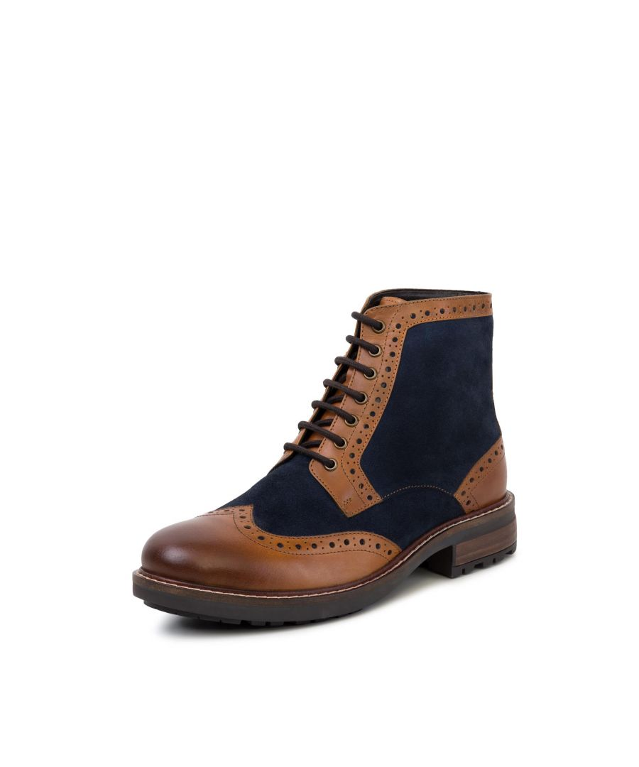 Image for Redfoot Mens Redfoot Cooper Tan Leather Suede Boot