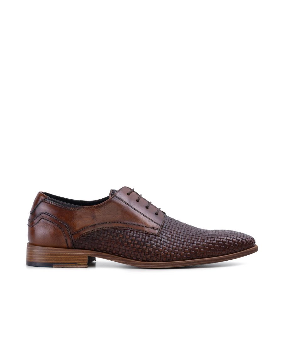 Image for Goodwin Smith Mens Gs Nicolas Two Tone Tan Woven Derby