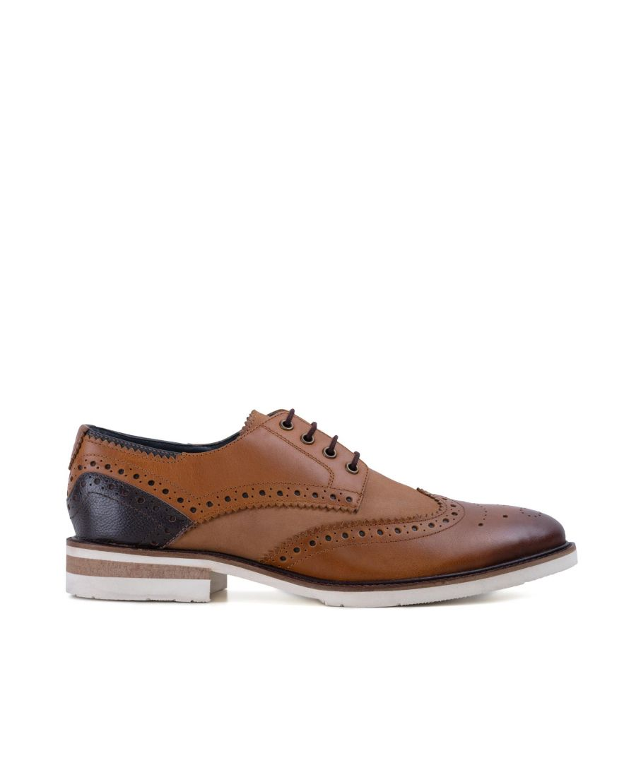 Image for Goodwin Smith Mens Gs Lorenzo Tan Brown Derby Brogue