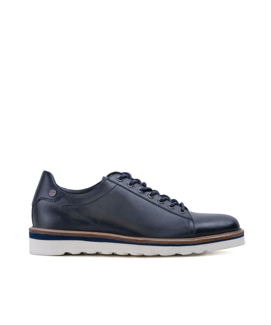 Image for Goodwin Smith Mens Gs Dante Navy Wedge Derby