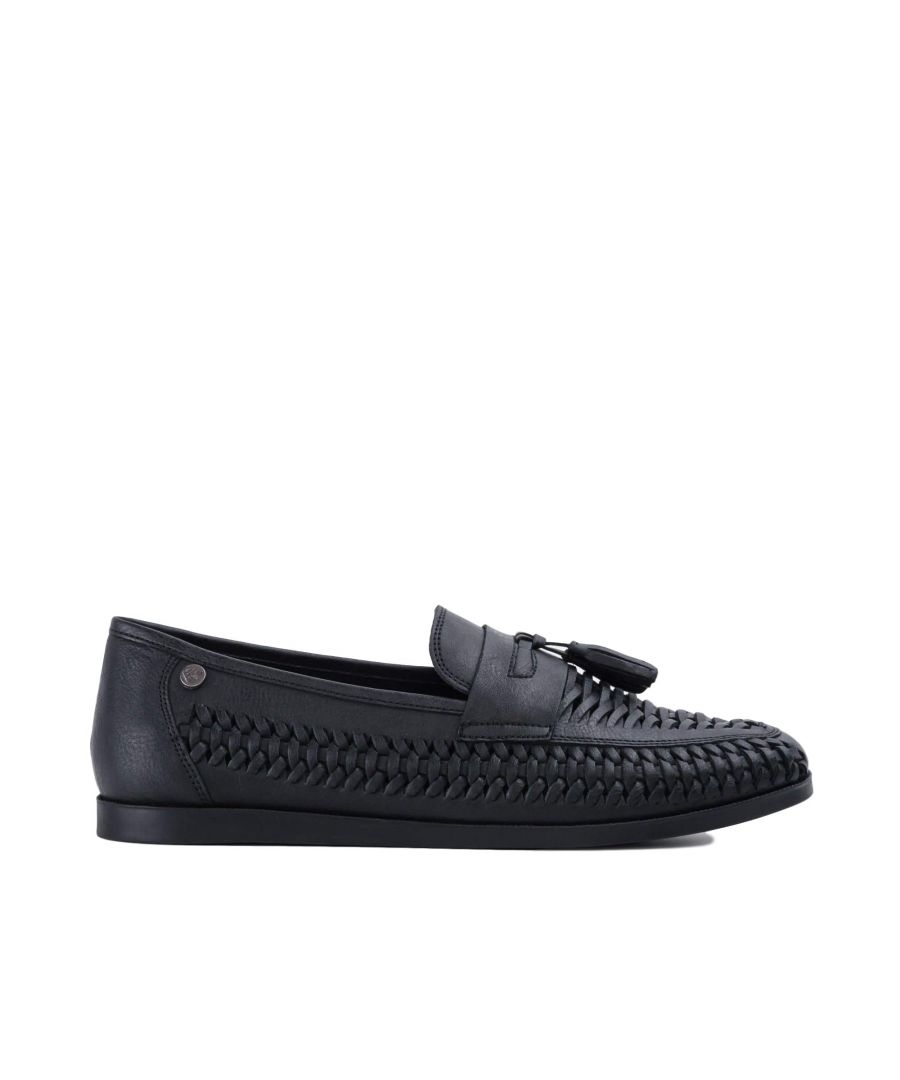 Image for Goodwin Smith Mens Gs Mijas Black Tassle Huarache Shoe