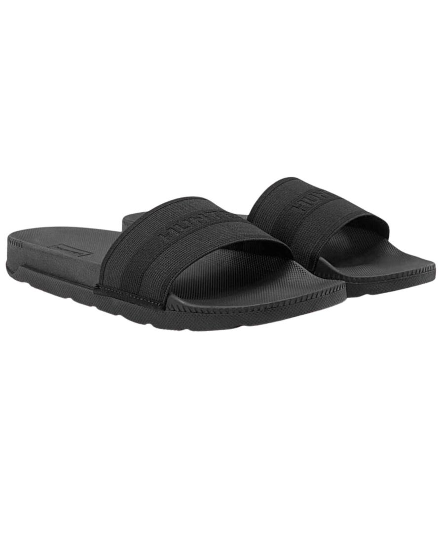Image for Hunter Womens Original Elastic Slide Black