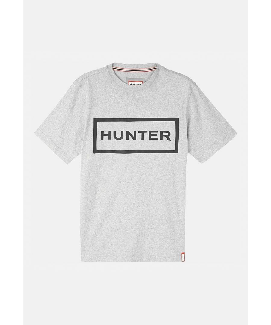 Image for Hunter Mens Original T- Shirt Grey Marl/Black