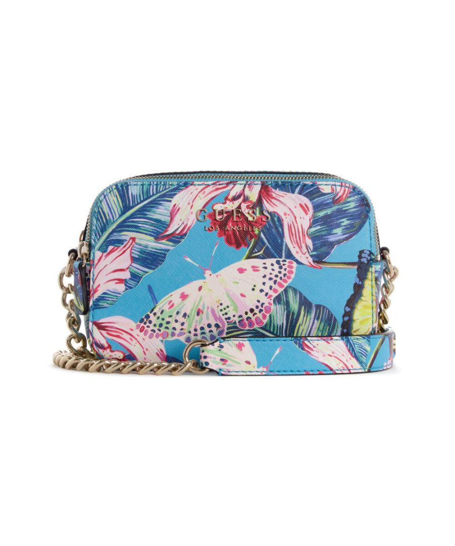 Image for Guess Women's Robyn Polyester Camera Cross Body Bag - Palm