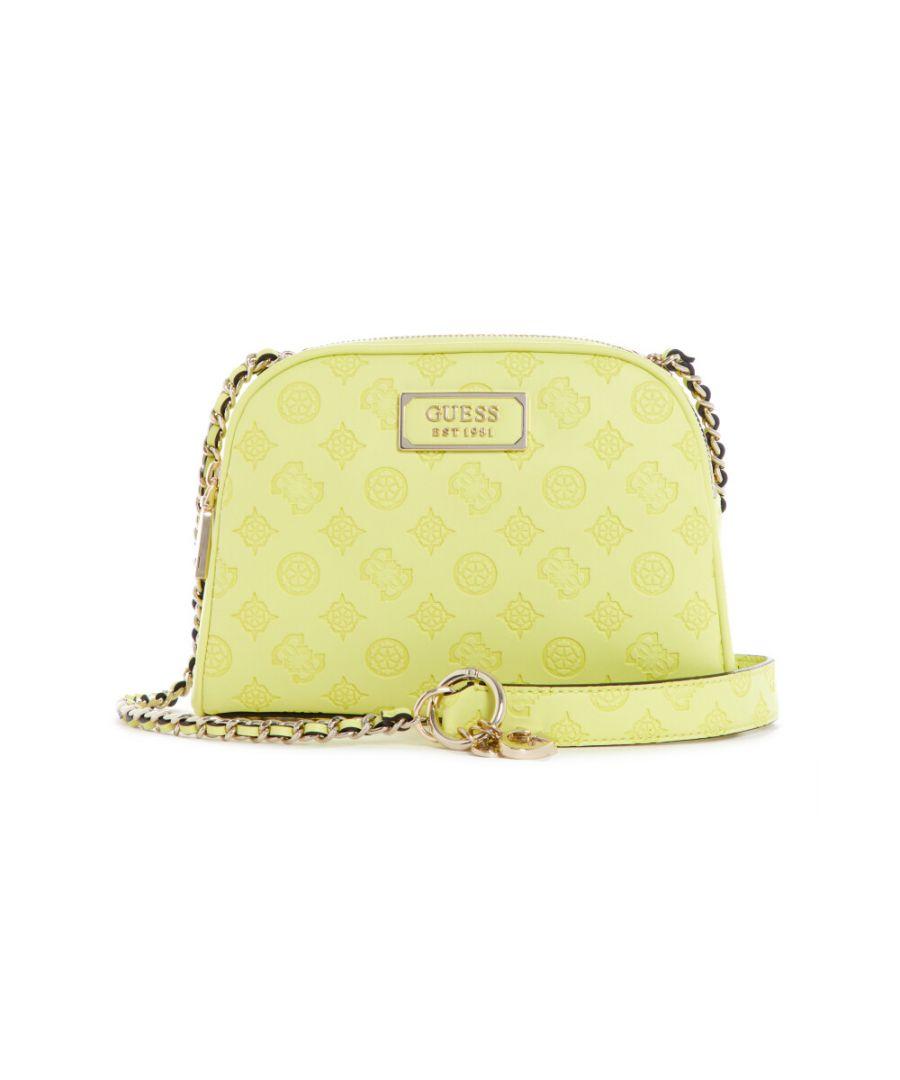 Image for Guess Women's Logo Love Crossbody Top Zip Cross Body Bag - Lime