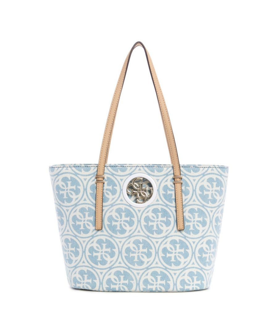 Image for Guess Women's Open Road Small Tote - Denim Multi