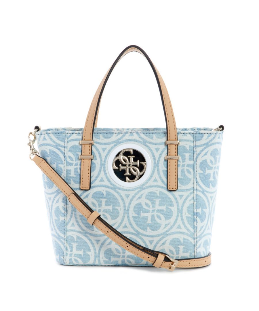 Image for Guess Women's Open Road Small Tote - Denim