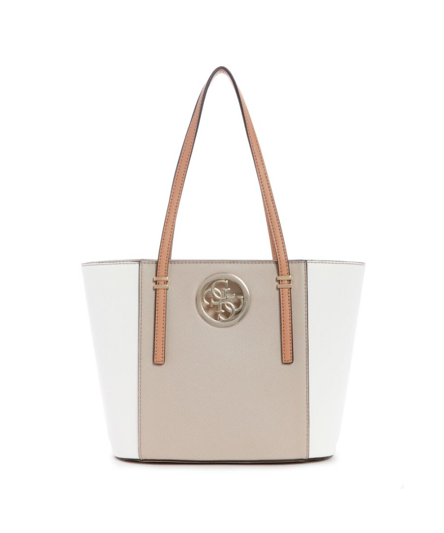 Image for Guess Women's Open Road Small Tote - Natural Multi