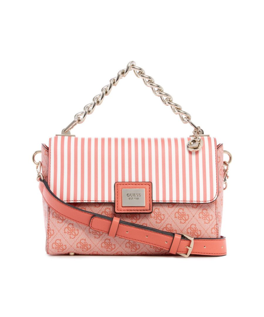 Image for Guess Women's Candace Top Handle Flap Top-Handle Bag - Coral