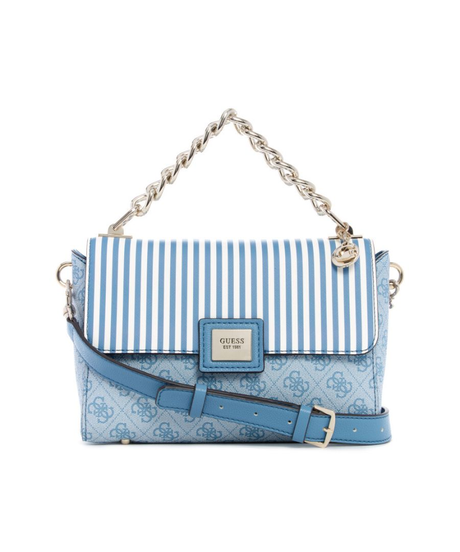 Image for Guess Women's Candace Top Handle Flap Top-Handle Bag - Sky