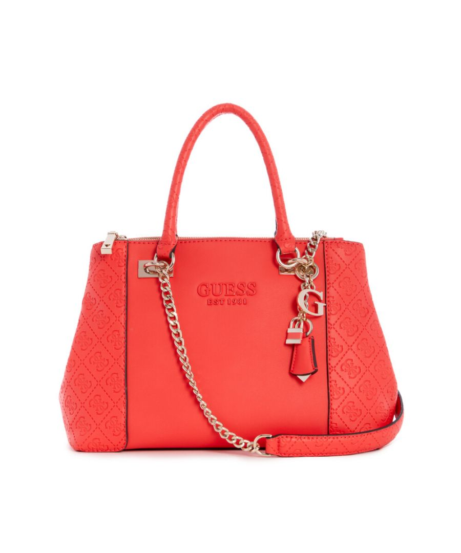 Image for Guess Women's Holly Status Carryall Shoulder Bag - Coral