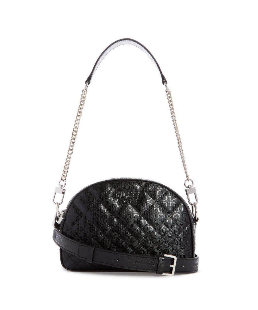 Image for Guess Women's Queenie Mini Crossbody Top Zip Cross Body Bag - Black