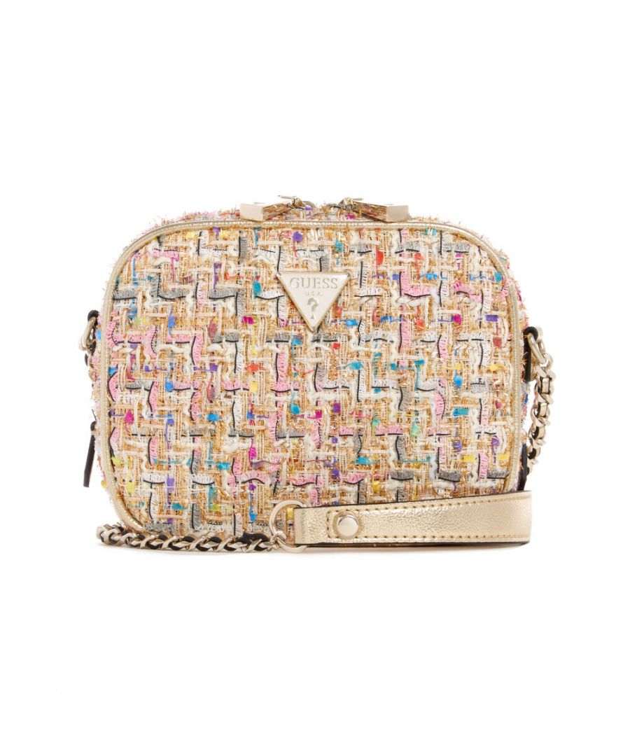 Image for Guess Women's Cessily Mini Camera Bag Cross Body - Gold Multi