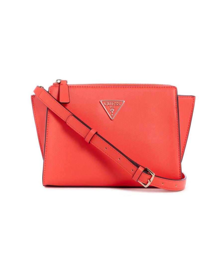 Image for Guess Women's Tangey Mini Crossbody Top Zip Cross Body Bag - Coral